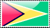 Flag of Guyana Stamp by xxstamps