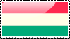 Flag of Hungary Stamp by xxstamps