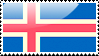 Flag of Iceland Stamp by xxstamps