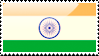 Flag of India Stamp by xxstamps