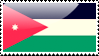 Flag of Jordan Stamp by xxstamps