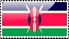 Flag of Kenya Stamp by xxstamps