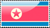 Flag of North Korea Stamp by xxstamps