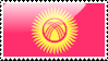 Flag of Kyrgyzstan Stamp by xxstamps