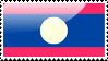Flag of Laos Stamp by xxstamps