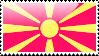 Flag of Macedonia Stamp by xxstamps