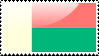 Flag of Madagascar Stamp by xxstamps