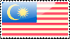 Flag of Malaysia Stamp by xxstamps