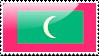 Flag of Maldives Stamp by xxstamps