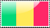 Flag of Mali Stamp by xxstamps