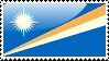 Flag of Marshall Islands Stamp by xxstamps