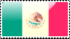 Flag of Mexico Stamp by xxstamps