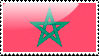 Flag of Morocco Stamp by xxstamps