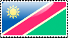 Flag of Namibia Stamp by xxstamps