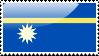 Flag of Nauru Stamp by xxstamps
