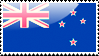 Flag of New Zealand Stamp by xxstamps