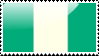 Flag of Nigera Stamp by xxstamps