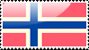Flag of Norway Stamp by xxstamps