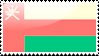 Flag of Oman Stamp by xxstamps