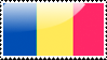 Flag of Romania  Stamp by xxstamps