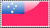 Flag of Samoa Stamp by xxstamps