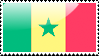 Flag of Senegal Stamp by xxstamps