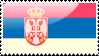 Flag of Serbia Stamp by xxstamps