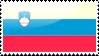 Flag of Slovenia Stamp by xxstamps