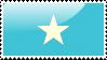 Flag of Somalia Stamp by xxstamps