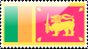 Flag of Sri Lanka Stamp by xxstamps