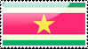 Flag of Suriname Stamp by xxstamps