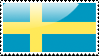 Flag of Sweden Stamp by xxstamps