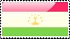 Flag of Tajikistan Stamp by xxstamps