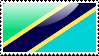 Flag of Tanzania Stamp by xxstamps