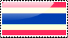 Flag of Thailand Stamp by xxstamps