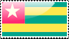 Flag of Togo Stamp by xxstamps
