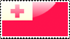 Flag of Tonga Stamp by xxstamps