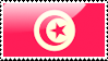 Flag of Tunisia Stamp by xxstamps