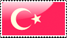 Flag of Turkey Stamp by xxstamps