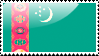 Flag of Turkmenistan Stamp by xxstamps