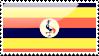 Flag of Uganda Stamp by xxstamps