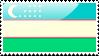 Flag of Uzbekistan Stamp by xxstamps