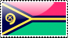 Flag of Vanuatu Stamp. by xxstamps