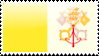 Flag of Vatican City Stamp by xxstamps