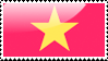 Flag of Vietnam Stamp by xxstamps