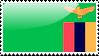 Flag of Zambia Stamp by xxstamps