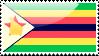 Flag of Zimbabwe Stamp by xxstamps