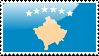 Flag of Kosovo Stamp by xxstamps