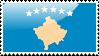 Flag of Kosovo Stamp by xxstamps