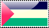 Flag of Palestine Stamp by xxstamps